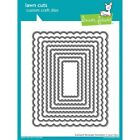 Lawn Fawn Lawn Cuts Custom Craft Die LF997 Scalloped Rectangle Stackables