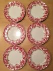 (6) Johnson Brothers Strawberry Fair Bread & Butter Plates England
