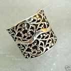 Silpada R1741 Sterling Silver .925 Scrolling Vine Ring Wide Band SZ 6.5  Retired