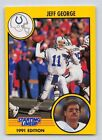 1991  JEFF GEORGE - Kenner Starting Lineup Card - SLU - INDIANAPOLIS COLTS