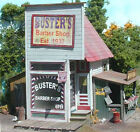 BUSTER'S BARBER SHOP & OUTHOUSE IN O-SCALE-LASER-CUT WOOD KIT BY BAR MILLS