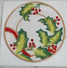New Fitz & Floyd Christmas Noel Classique Canape Plate Retired 2004 Wall Hanging