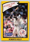 1990  ROBERTO KELLY - Kenner Starting Lineup Card - New York Yankees - (Yellow)