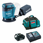 MAKITA 18V LXT BBO180 BBO180Z RANDOM ORBIT SANDER 1 x BL1830 1 x DC18RC AND BAG