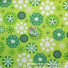 BonEful Fabric Cotton Quilt Green Xmas White Snowflake Grinch Star Winter SCRAP