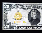 1928 $20 Series GOLD Certificate bank note US currency paper money American
