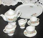 Made in Occupied Japan Fine Bone China Mini Tea 10-pc Set : Teapot, cups, saucer