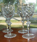 4 SIGNED WATERFORD POWERSCOURT WHITE WINE GLASSES / 6-3/8