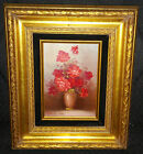 Robert Cox (1934-2001) Original Oil Painting Flowers Red Roses - Signed