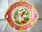 ANTIQUE ROYAL AUSTRIA O.&E.G. HAND PAINTED HANDLED CABINET PLATE CAKE TRAY 19 C