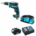 MAKITA 18V DFS452 DRYWALL SCREWDRIVER BL1830 BATTERY DC18RC CHARGER DK18027 BAG
