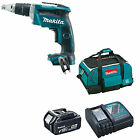 MAKITA 18V LXT DFS452 DFS452Z DRYWALL SCREWDRIVER, 1 x BL1840, 1 x DC18RC