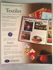 Creative Memories Textiles Printed Photo Mounting Paper 6 Colors 12 Sheets NIP