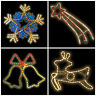 Outdoor Indoor Christmas Rope Light Decoration Multicolour Star Reindeer Bell