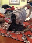Fitz and Floyd Witch Pitcher 2 Qt Halloween Vintage 1988