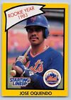 1990  JOSE OQUENDO - Kenner Starting Lineup Card - NEW YORK METS  (YELLOW)
