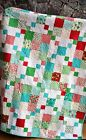 QUILT PATTERN Jelly Roll Layer Cake or Fat Quarters Easy Quick Beginner Precuts