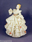 GORGEOUS VINTAGE IRISH DRESDEN LACE FIGURINE LARGE STATUE CHRISTMAS KISS AS IS