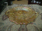 Vintage Iridescent Carnival Glass ServingTray with Handles