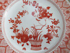 Plate ROYAL CROWN DERBY ENGLAND RED WHITE GOLD CHANDOS FLORAL decor 1883 ESTATE