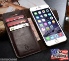 iPhone X  8 7 6s Plus Genuine Leather Wallet Card Holder Flip Stand Case Cover