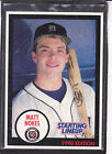 1990  MATT NOKES - Kenner Starting Lineup Card - Detroit Tigers - (BLUE)
