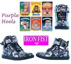 Iron Fist Garbage Pail Kids Black All Day Trainers UK4-8 / EU37-41