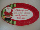 Fitz and Floyd Christmas Holiday Folk Serving Plate  9 1/2