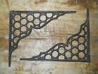 8 Cast Iron Antique Style LARGE RING Brackets, Garden Braces Shelf Bracket