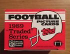 1989 Topps Traded Series Football Card Complete Set In Factory Box,Sanders