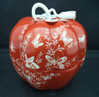Shafford Japan Covered Candy Dish LES PAPILLONS Butterflies Orange Pumpkin Chip