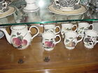 Queen's China Hooker's Fruit Teapot and 6 Pedestal Mugs, made in England