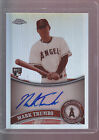2011 Topps Chrome Sepia Refractor Autograph Auto #178 Mark Trumbo 68 99 Angels