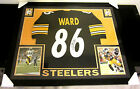 HINES WARD AUTHENTIC AUTOGRAPHED FRAMED AND MATTED PITTSBURGH STEELERS JERSEY