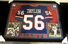 LAWRENCE TAYLOR AUTHENTIC AUTOGRAPHED FRAMED AND MATTED NEW YORK GIANTS JERSEY