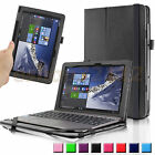 Folio PU Leather Stand Cover Case For ASUS Transformer Book T100HA 101 Laptop