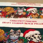 VIP Christmas Friends Draft Stopper/Bench Pillow Fabric Panels Dogs