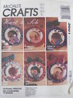 McCalls Sewing Pattern 3881 Seasonal Wreaths,Decorate Month To Month,UC