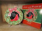 FITZ AND FLOYD SOUTHERN CHRISTMAS CANAPE PLATE 9