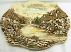 JOHNSON BROS Olde English Countryside Brown England Serving Platter 13.75