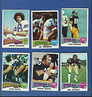1975 Topps Football Complete Set, 528 cards, Swann & Fouts RC, vg-ex-nrmt