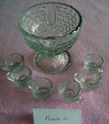 Child's Vintage Punch Bowl Set with 6 Cups - Tulip Design