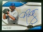 2014 Topps Tier One Acclaimed Autograph Auto R.A. Dickey #08 50 NM MT+ only 50!