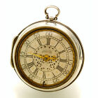 1690 Verge Fusee Pair Case Pocket Watch With Original Silver Dial by Markwick