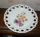 Vintage Porcelain Hand Painted Reticulated Plate