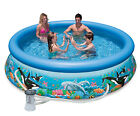 Intex 10 x 30 Easy Set Kids Inflatable Above Ground Swimming Pool with Pump