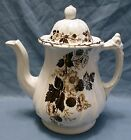 White Ironstone, Brown Transfer Tea Pot