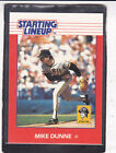 1988  Mike Dunne - Kenner Starting Lineup Card - Pittsburgh Pirates - Vintage