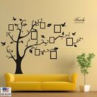 Large Family Tree Wall Decal w Photo Frames  Removable Sticker  Black or Brown