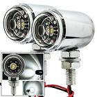 Chrome CREE lights Motorcycle LED fog running cruiser chopper headlight 6000K mx